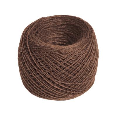 Пряжа из хлопка 14/2 №256 коричневая
