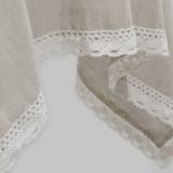 Набор скатерть полулен с кружевом + салфетки
