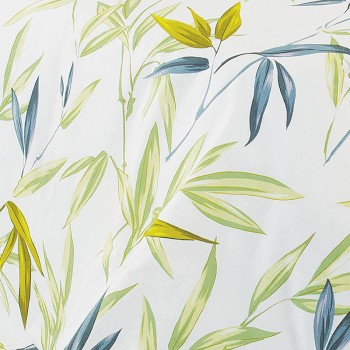 Ткань бязь набивная t260 листья бамбука