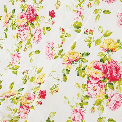 Ткань бязь набивная t262 розы
