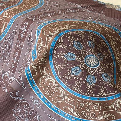 Тканина бязь набивна t266 коричнева абстракція