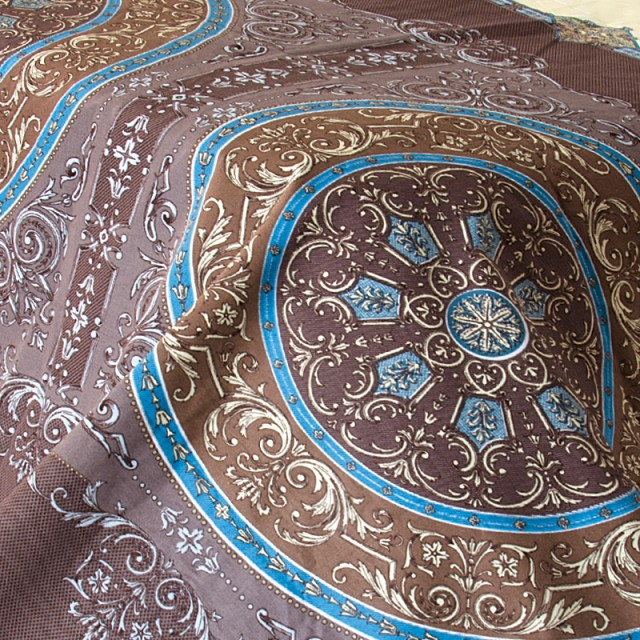 Ткань бязь набивная t266 коричневая абстракция