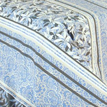 Ткань бязь набивная A7 полосы с цветами