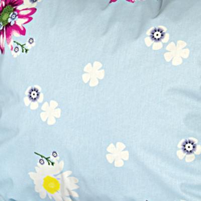 Ткань бязь набивная tur198 мелкие цветочки на голубом