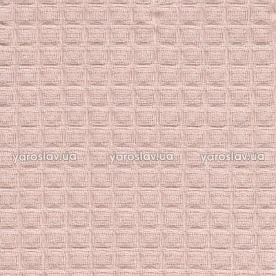 Ткань вафельная гладкокрашеная_розовая