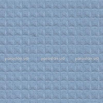 Ткань вафельная гладкокрашеная_темно-голубая