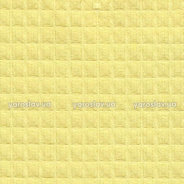 Ткань вафельная гладкокрашеная_желтая